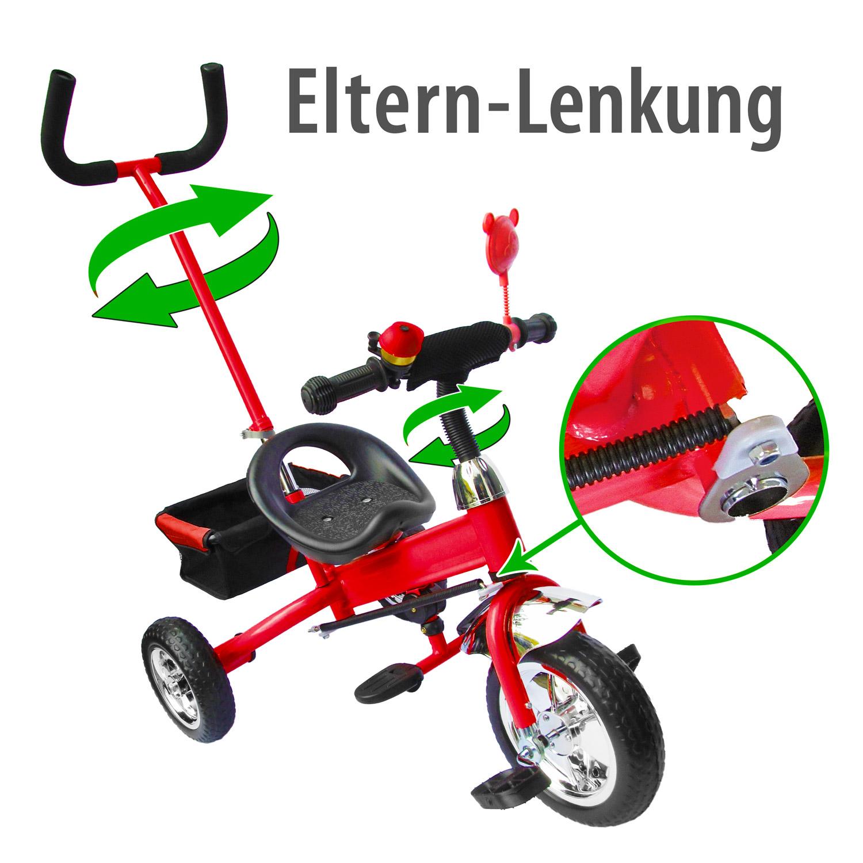kinder dreirad kinderfahrrad fahrrad lenkstange. Black Bedroom Furniture Sets. Home Design Ideas