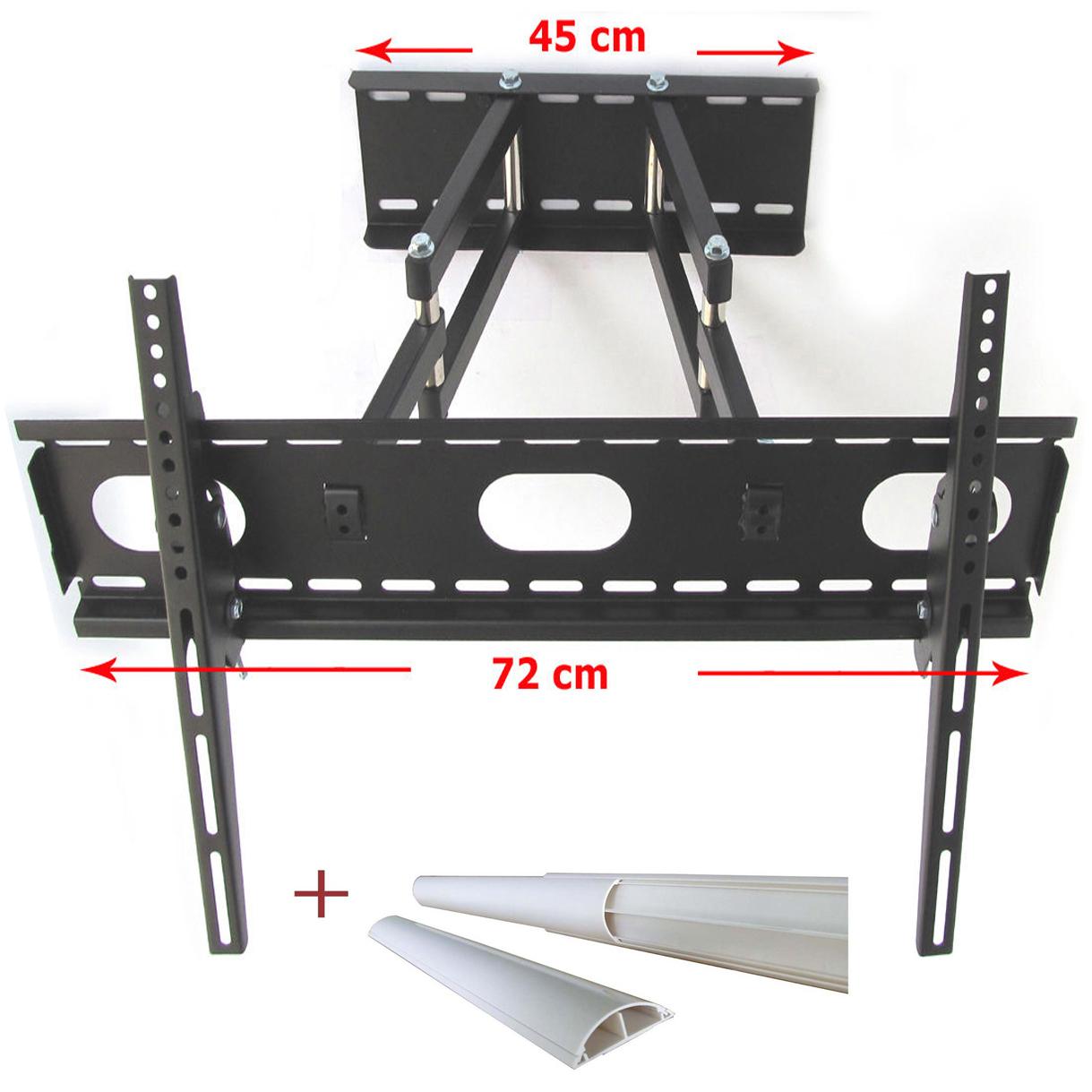 tv wandhalterung halterung mit doppelarm schwenkbar ausziehbar bis 30 kg weiss 4872383117608 ebay. Black Bedroom Furniture Sets. Home Design Ideas
