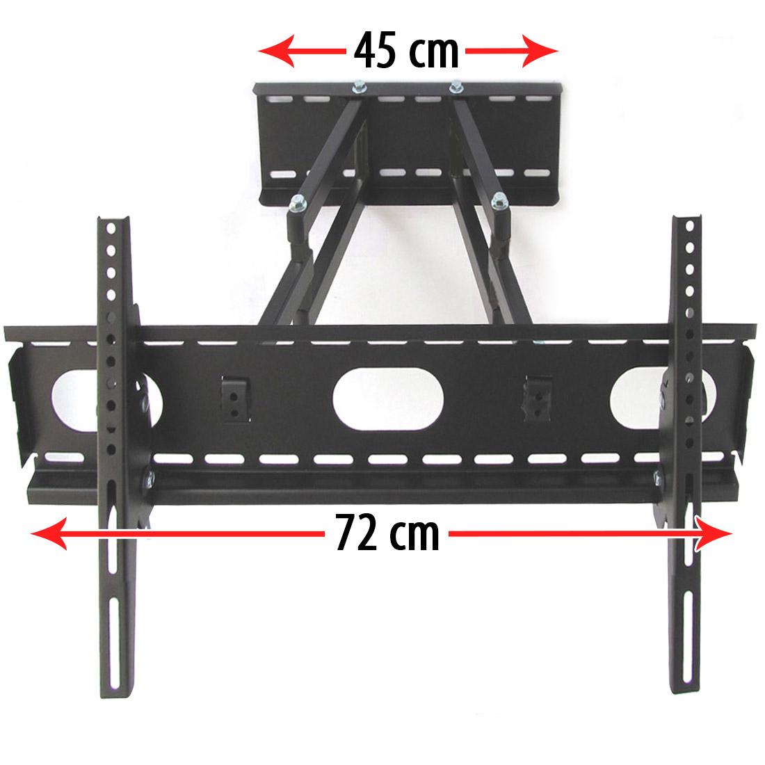 Tv lcd wandhalterung halterung neigbar schwenkbar doppelarm f r tv bis 70kg wei ebay - Wandhalterung fur tv gerate ...